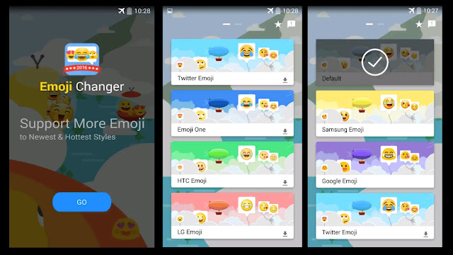Convert Android emoji to iPhone way without root