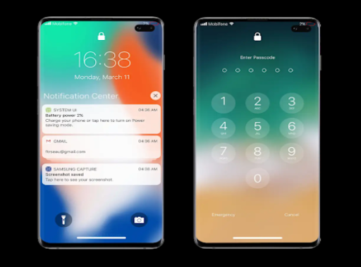 Lock screen iOS 13 Convert Android To Iphone