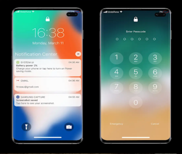 Lock screen iOS 13 | Convert Android To Iphone