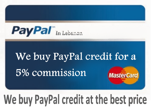 We buy PayPal credit for a 5% commission