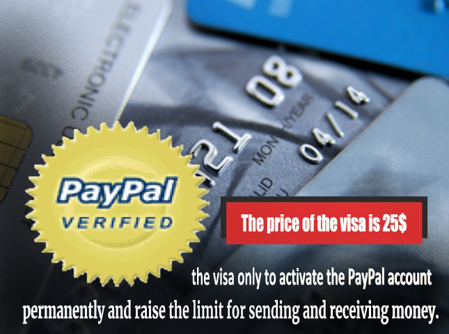 the visa only to activate the PayPal account