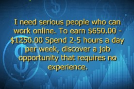 I need serious people who can work online