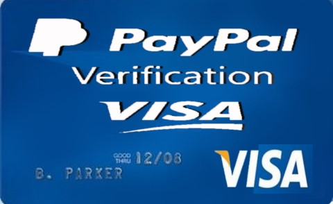 Buy a Visa card to activate Paypal